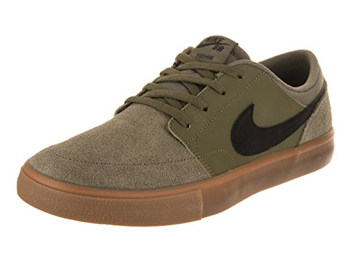 Skate Sb Mens Shoe (NIKE Men's SB Portmore II Solar Medium Olive/Black Skate Shoe 11 Men US)