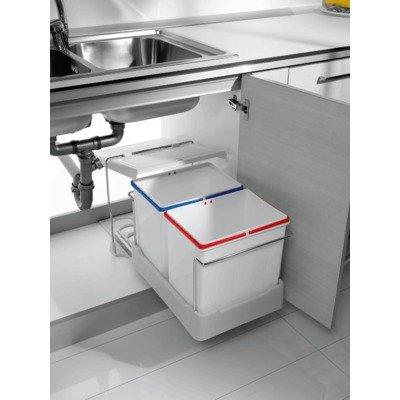 2-fach Küchen Einbau Abfalleimer Electa1, 2x 16 Liter, Mülleimer ...