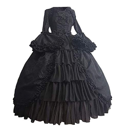 Goutique Vintage Long Sleeves Formal Evening Gowns Women Gothic Dresses Gothic Court Square Collar Patchwork Bow Dress