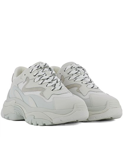 White Leather Sneakers ADDICT02 Ash Women's qfERBnHw