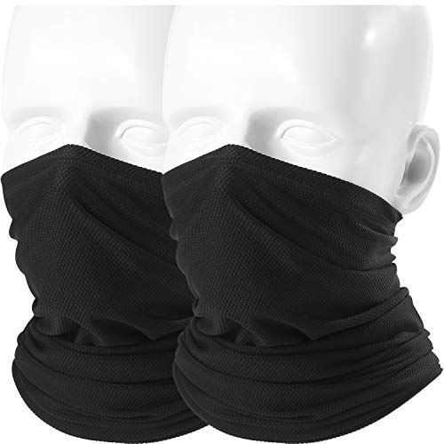 - AXBXCX 2 Pack - Excellent Breathable Neck Gaiter Face Mask UV Rays Windproof Dust Protection for Hunting Cycling Bicycle Motorcycle Riding Fishing Ski Snowboard Summer Hot Weather Activities Black