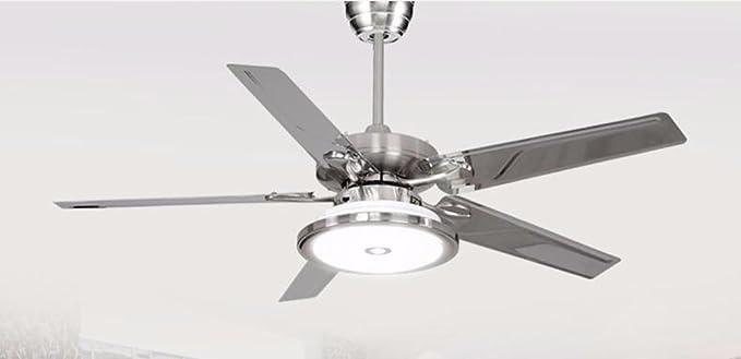 XHOPOS HOME Ventilador de techo moderno minimalista techo LED luz ...