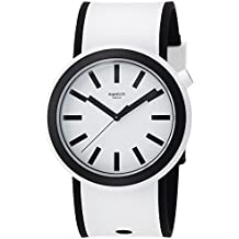 Swatch New POP Popmoving White Dial Silicone Strap Unisex Watch PNW100