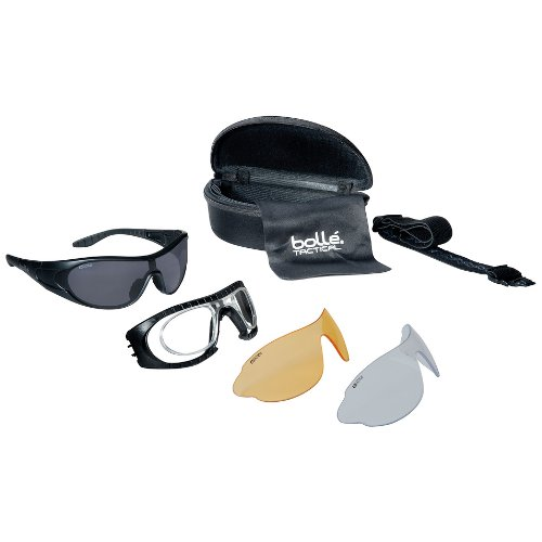 Bolle Raider Ballistic Spectacles - Clear, Smoke, Yellow Lens Black Frame by Bolle Safety (Image #3)