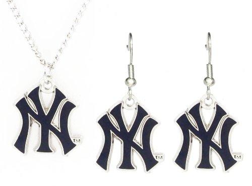 New York Yankees - MLB Earrings & Pendant Necklace Gift Set ()