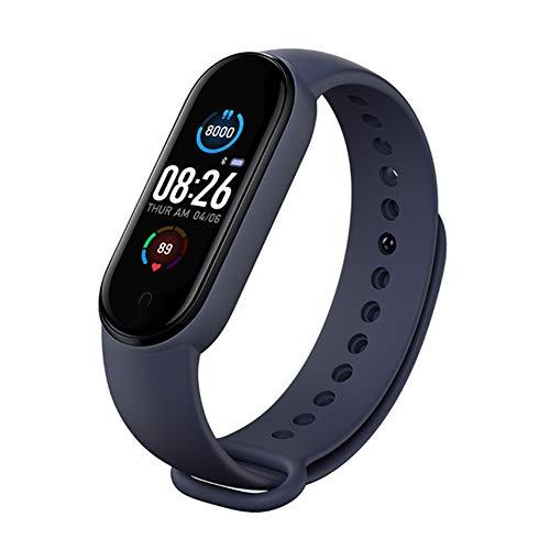 M5 Smart Horloge Fitness Tracker Voor Mannen En Vrouwen Hartslagmeter Stappenteller Calorie Teller IP67 Waterdichte…