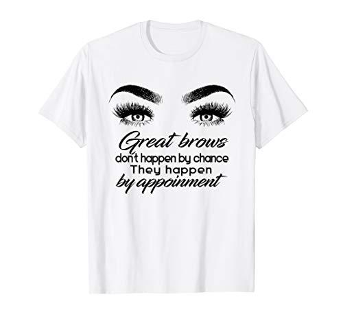 (Womens Makeup Artist Tee Shirt: microblading shirt, brow shi)