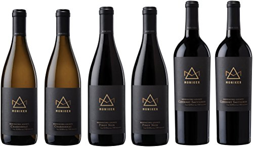 Moniker Wine Estates California Red and White Wine Mixed Pack, 6 x 750ML