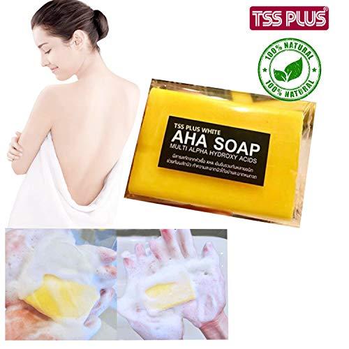 TSSPLUS Whitening Soap,Pure,serum bleaching brightening skin,AHA,Vitamin C,Fast whitening body SOAP Multi Alpha Hydroxy Acids brightening skin 70g.