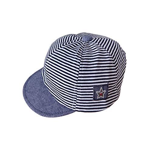 Comfortable Children Summer Cotton Hats Cute Fashion Striped Baseball Cap for Babies Girls Sun Hat,Navy ()