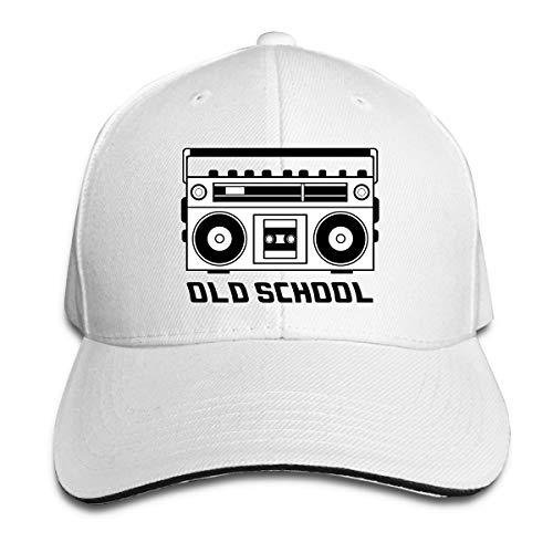 Old School Boombox Sports Sandwich Headgear White