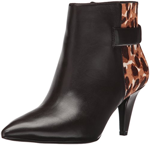 Leather Ankle Dark Nine Bootie Jaison Kenya West Cheetah Brown Women's x4ISwSWtaq