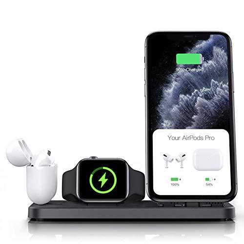 شارژر بی سیم سه کاره برای آیفون، اپل واچ و ایرپاد