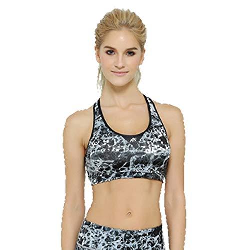 BeesClover Womens Fitness Bras Printing Sports Bra for Sports Popular partern Girls Fitness Exercise Sleeveless Tops Khaki L