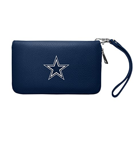 NFL Dallas Cowboys Zip Organizer Pebble Wallet (Dallas Cowboys Merchandise Women)