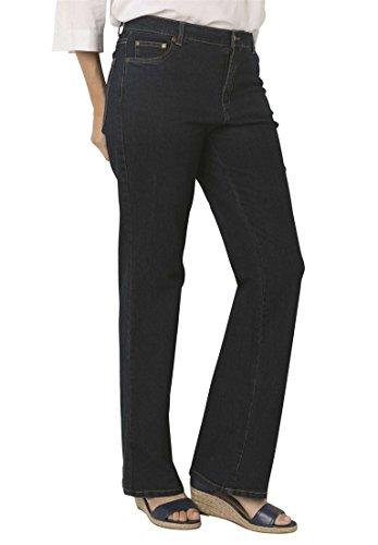 Women's Plus Size Petite Bootcut Stretch Jean Indigo,14 Wp