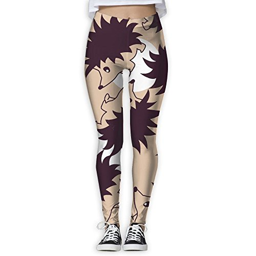 Funny Yoga Pants Hedgehog Pattern Printed Workout Leggings For - Of The Face My What Shape Is