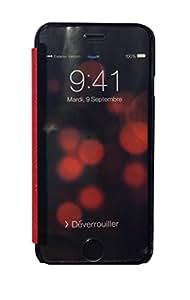 E-My Way CA065PCRC00D04 para iPhone - de cristal rojo y cristal
