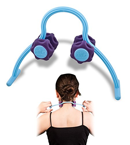 Self Massage Tools Roller for Neck and Shoulders by Dr. Necky - Trigger Point Massager for Tension Relief - Therapeutic Myofascial Release