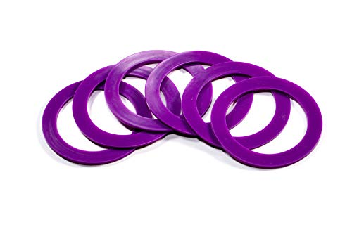 Silicone replacement gasket seals Wide mouth rings (Purple) Pack of 6