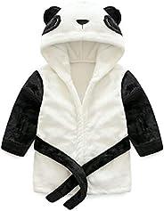 Vine Toddler Kids Bathrobe Hooded Nightgown Baby Sleepwear Robes Animal Towel Pajamas
