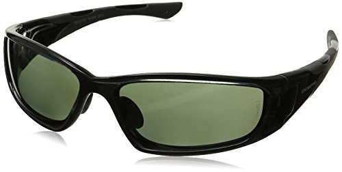 (Crossfire Eyewear 24426  MP7 Full Frame Polarized Safety Glasses with Blue Green Polarized Lens and Black Frame )