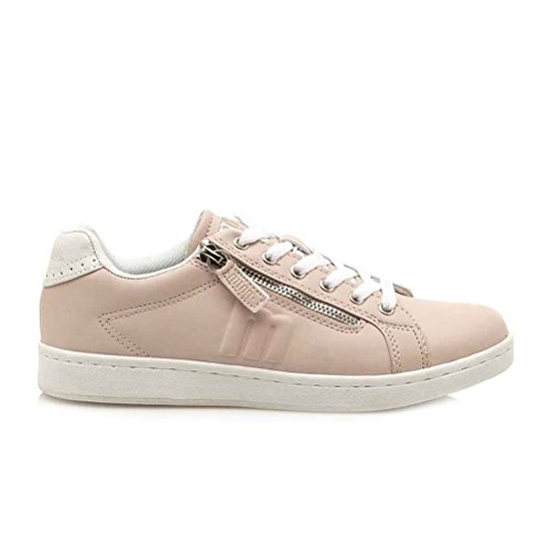 Chaussures Fitness MTNG Action Agasi Femme de Multicolore Rose Nudeblanco Pu qTpZpw5