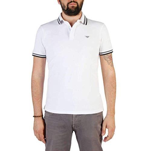 À Ajustée Homme Manches Polo Pour Bianco Armani Coupe F69 Courtes Emporio qCAxpFwn