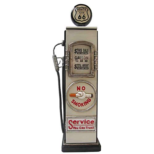 Gas pump storage rack (CD) Route 66 creme (23 x 19 x 87)