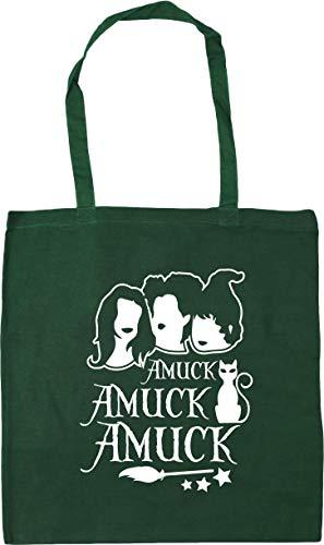 HippoWarehouse Amuck Amuck AmuckTote Shopping Gym Beach Bag 42cm x38cm, 10 litres Bottle Green