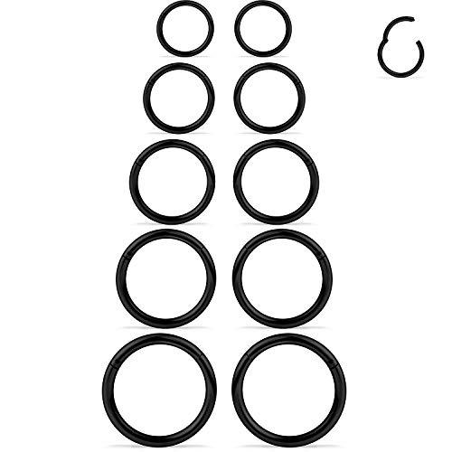 stainless steel 14g earrings - 6