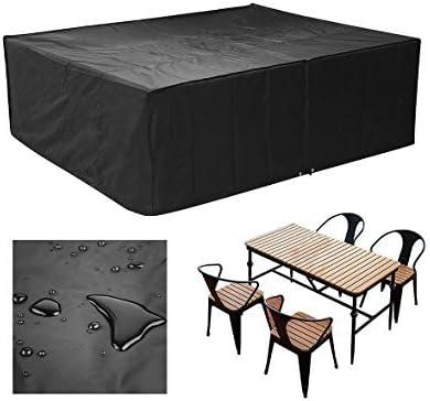 MVPOWER Cubierta Impermeable para Muebles Funda Protectora para Muebles Sillas Sofás Mesas Cubierta de Exterior Color Negro (250x 200x 80cm): Amazon.es: Jardín