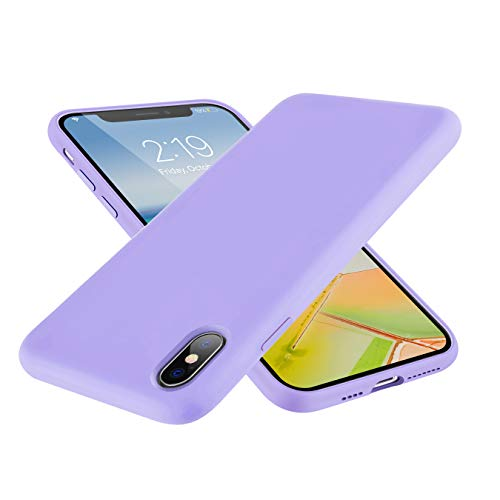 SYMOO Case for iPhone Xs/X,Liquid Silicone Case,Full Body Protection Shockproof Cover Case Drop Protection Case for Apple iPhone X/iPhone Xs 5.8 inch (Purple)