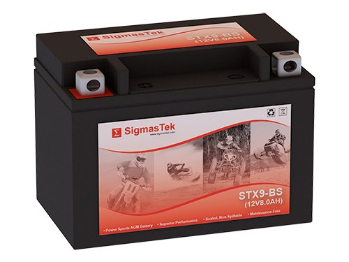 Genuine SigmasTek YTX9-BS / STX9-BS Sealed Maintenance Free ATV Quad Motorcycle Scooter Moped Battery