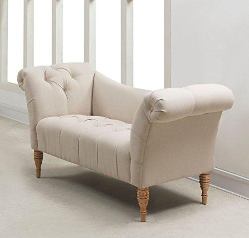 TOV Furniture Shev Beige Linen Settee (Settee Natural)