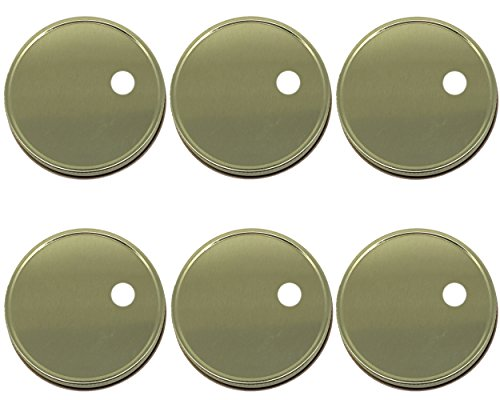 Reusable Wide Mouth Mason Jar Lids with Straw Hole 10mm (Larger Opening for All Kinds of Straws) Set of 6 (Gold, Wide Mouth)
