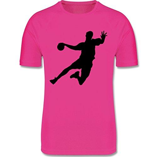 Sport Kind - Handball - 152 (12-13 Jahre) - Fuchsia - F350K - atmungsaktives Laufshirt / Funktionsshirt für Mädchen und Jungen