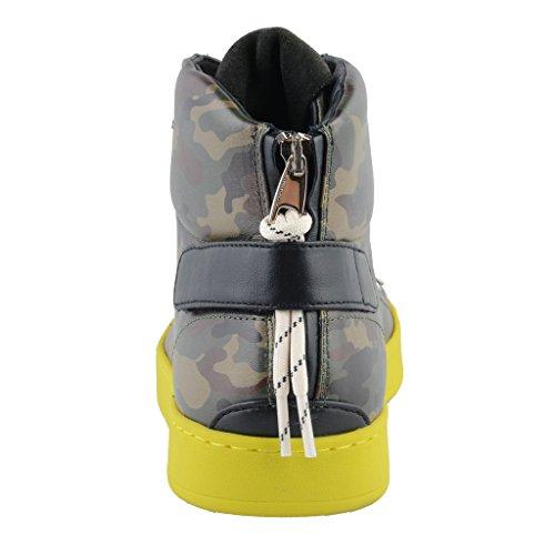 Dolce & Gabbana Kamuflasje Hi Top Leather Fashion Joggesko Sko Multi-farge