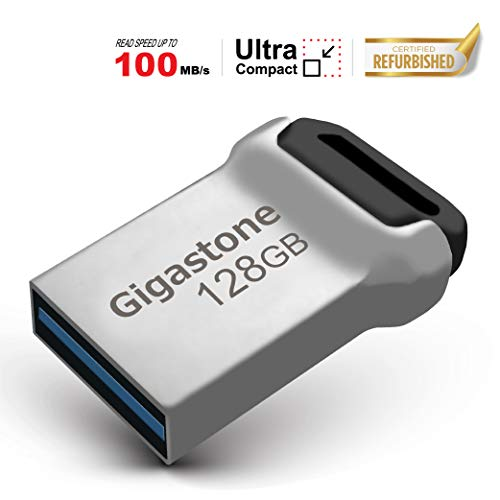 Gigastone 128GB USB 3.0 Flash Drive USB, Durable Metal Waterproof Memory Stick for PC Windows Linux Apple MAC Desktop Notebook Laptop (Factory Re-Marking Edition, New Un-Used)