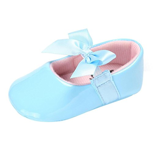Clode® Baby Bowknot Prinzessin Soft Sole Schuhe Kleinkind Casual Schuhe Sky Blue