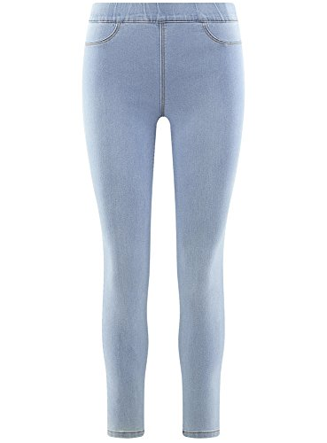 7000w Basic Ultra Jeggings Women's Blue oodji n7zaOpq