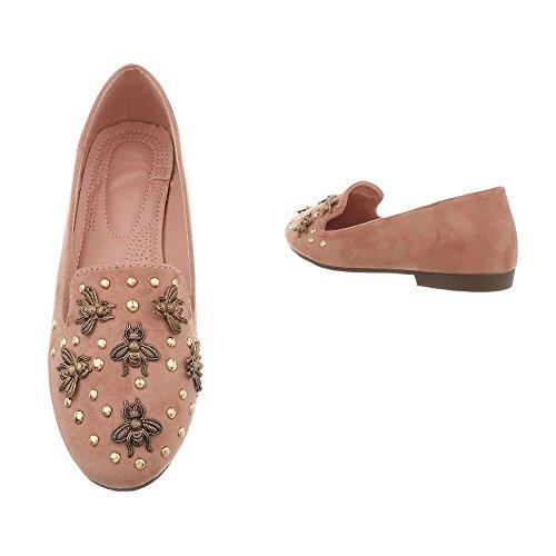 Ital-Design Women's Loafer Flats Block Heel Slippers at Altrosa 2999 z68JP8iM