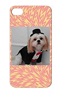 Dogs Animals Nature TPU Silver Dog Tux Protective Hard Case For Iphone 4/4s