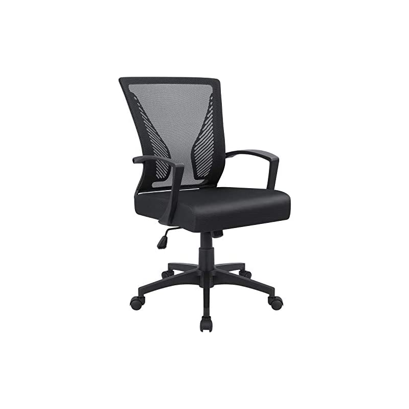 Furmax Office Chair Mid Back Swivel Lumb