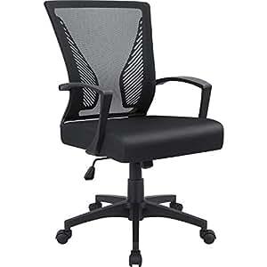 Stupendous Furmax Office Chair Mid Back Swivel Lumbar Support Desk Chair Computer Ergonomic Mesh Chair With Armrest Black Best Image Libraries Weasiibadanjobscom