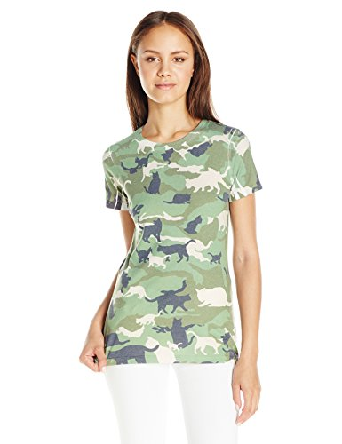 Goodie Two Sleeves Juniors Graphic Tee, Camo, Small
