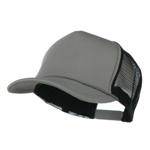 Summer Foam Mesh Trucker Cap - Grey Black OSFM