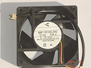 Melco 120x38mm MMF-12C12DL-RA2 12V 0.24A 3Wire Cooler Fan