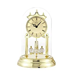Bulova B8818 Tristan I Clock Brass Finish