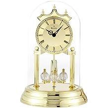 Bulova B8818 Tristan I Clock, Polished Brass Finish